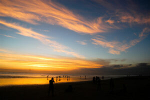 Sonnenuntergang am Legian Beach
