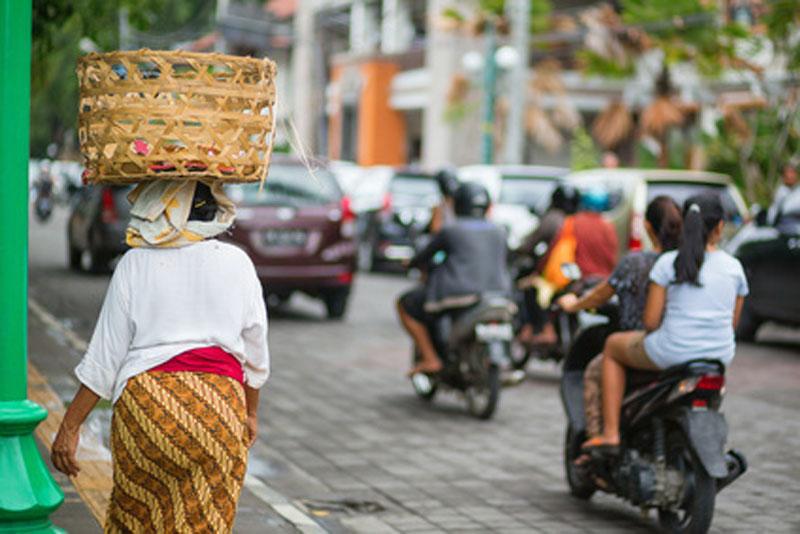 Sicherheit im Verkehr in Bali