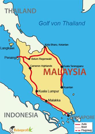 Malaysia intensiv mit Ostküste