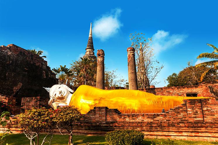 Der liegende Buddha in Ayutthaya