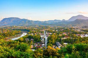 Ausblick auf Luang Prabang im Laos Urlaub