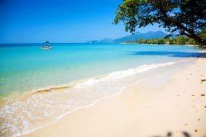 Der Strand im Süden Kambodschas in Sihanoukville