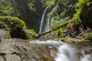 Der Tiu Kelep Wasserfall in Lombok